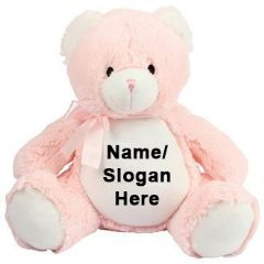 Personalised Zippie NEW BABY BEAR - Pink
